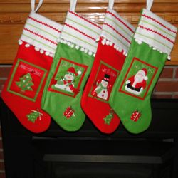 Ric Rac Personalized Christmas Stocking