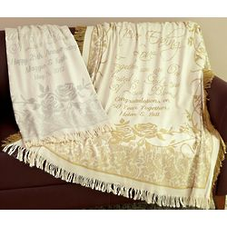 Personalized Silver Never Ending Love Anniversary Throw