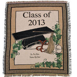 Class of 2013 Graduation Throw Blanket