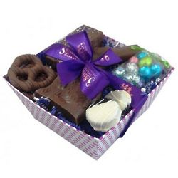 Chocolate Dreams Easter Basket with Milk Chocolate Bunny