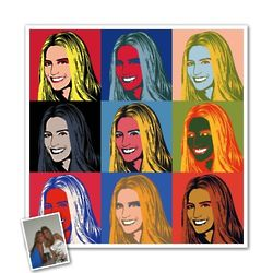 Custom Photo 9 Panel Pop Art Print