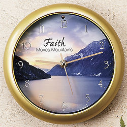 Faith Moves Mountains Inspiration Musical Clock