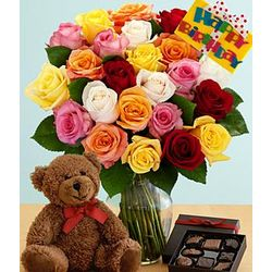 Ultimate Birthday Bouquet with Bear