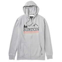Burton Griswold Recycled Heather Pewter Full-Zip Hoodie