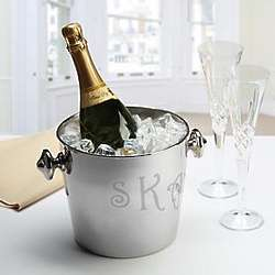 Personalized Stainless Steel Executive Champagne Cooler