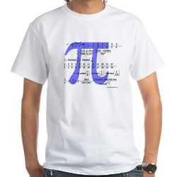 Pi Symbol and Equations T-Shirt