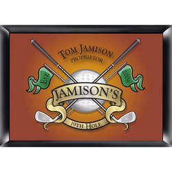Golf Design Personalized Pub Sign