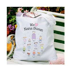 Personalized Heart Character Tote