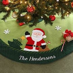 Holiday Magic Santa Personalized Tree Skirt