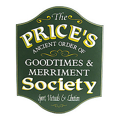 Personalized Goodtimes & Merriment Society Plaque