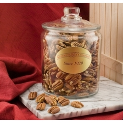 Mammoth Pecans in a 4 Pound Glass Jar