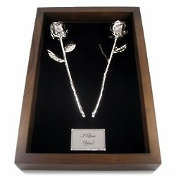 20th Anniversary Remembrance Box with Platinum Roses