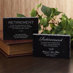 Personalized Retirement Engraved Marble Plaque