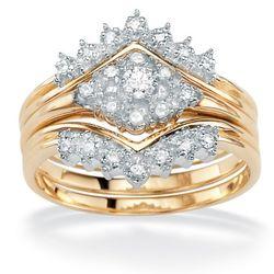 3-Piece Diamond 10k Wedding Set