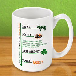 "Personalized ""Irish Coffee"" Coffee Mug"