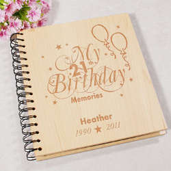 Engraved 21st Birthday Photo Album