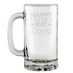 Father's Day Personalized Glass Beer Mug