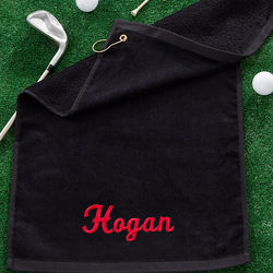 Name Embroidered Golf Towel