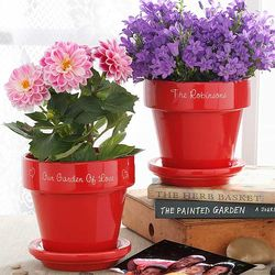 Personalized Family Name Flower Pot