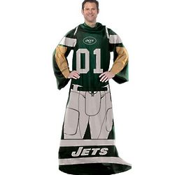 New York Jets Player Uniform Comfy Throw