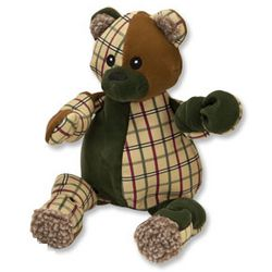 Patchwork Bear Dog Toy