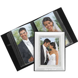Silvertone Rhinestone Personalized Photo Album