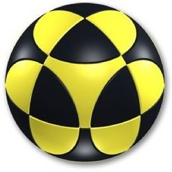 Marusenko Sphere Stage 1 Black and Yellow Rotation Puzzle