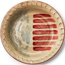 American Flag Stonware Pie Plate