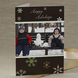 Winter Snowflakes Personalized Photo Christmas Cards