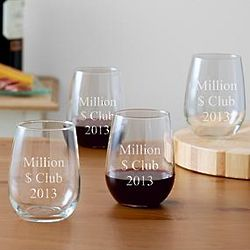 Personalized Stemless Celebration Wine Glasses