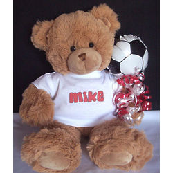Personalized Soccer Teddy Bear