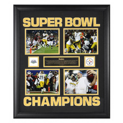 Pittsburgh Steelers Super Bowl XLIII Framed Four Collage