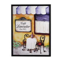 Personalized Couples Romantic Cafe Canvas