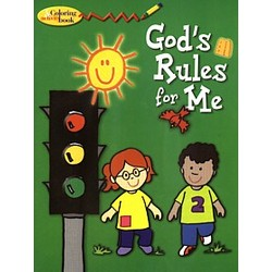 God's Rules for Me Coloring Book