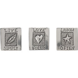 Live, Love, Laugh Pewter Magnets