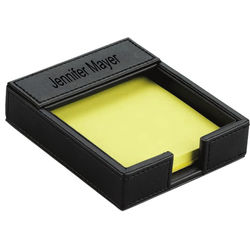 Personalized Executive Leather Post-It Note Pad