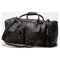 Leather Medium Executive Travel Duffel Bag