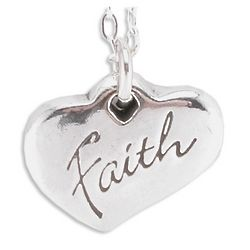 Women of Faith Heart Pendant