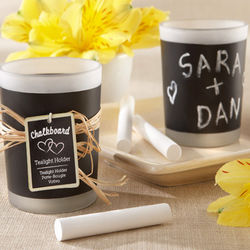 Chalkboard Tealight Candle Favors