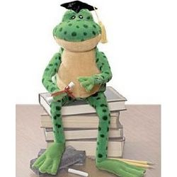 Plush Farley Musical Graduation Stuffed Frog