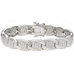 Diamond Sterling Silver Tennis Bracelet