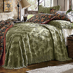 Chenille Diamond Throw-Style Queen Bedspread