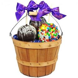 Basket of Gourmet Chocolate Caramel Apples