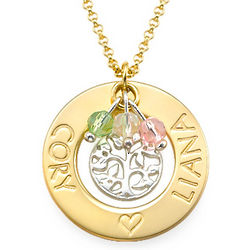 Personalized Two Name Tree of Life Necklace