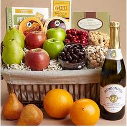 Cheers Fruit and Nut Gift Basket