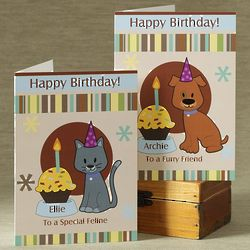 Personalized Birthday Card for Pets