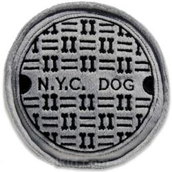 NYC Sewer Cover Dog Toy
