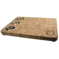 Personalized Butcher Block Cutting Board with Bowls