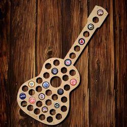 Guitar Beer Cap Map