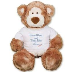 Personalized Warm Wishes and Kisses Alfie Bear